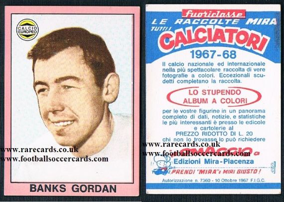 1967 Gordon Banks Mira Italian